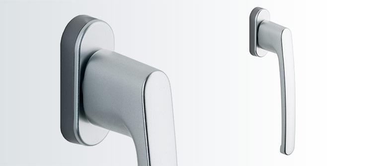 Silver PSK balkong dörrhandtag