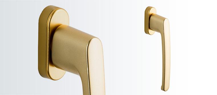 Ljust guld PSK balkong dörrhandtag